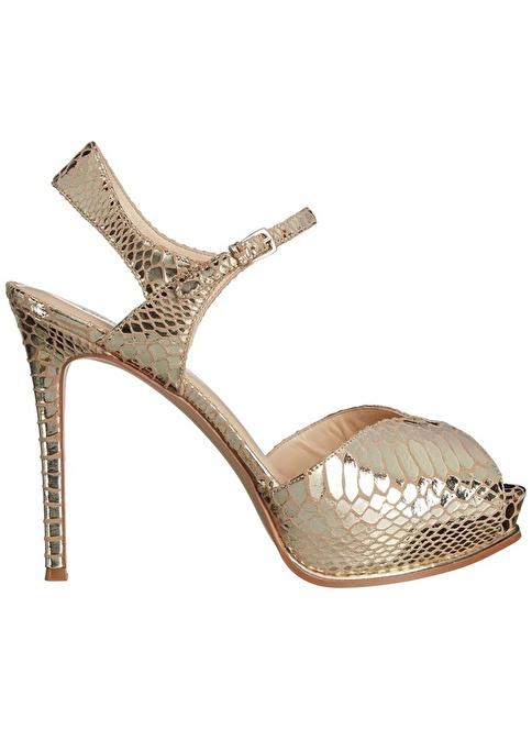 Nine West %100 Deri Klasik Ayakkabı Altın